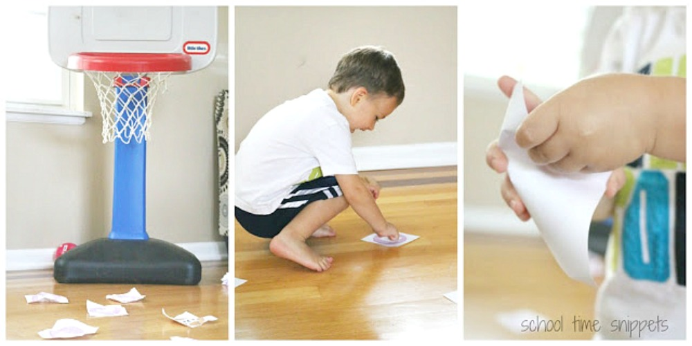 alphabet game for 3 year olds - ABC Basketball