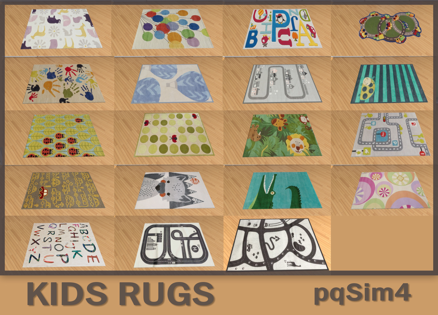 Sims 4 Teppiche Sims 4 Cc 39s The Best Kids Rugs By Pqsim4