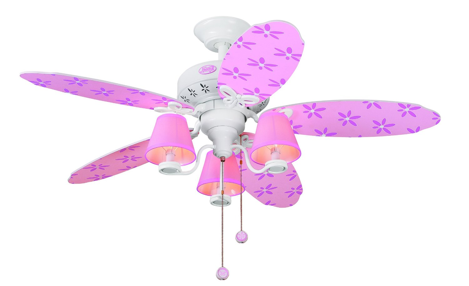 Ceiling Fans with Lights for Little & Teen Girls' Rooms