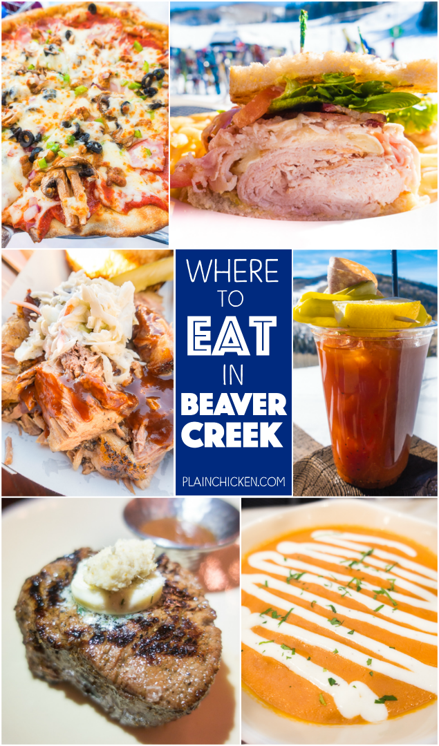 Where to Eat in Beaver Creek Colorado - from burgers to pizza and everything in between. You don't want to miss these places when you travel to Beaver Creek!