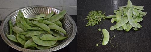 avarakkai-broad beans
