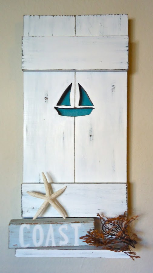 Nautical Sailboat Shelf - Available $65.00