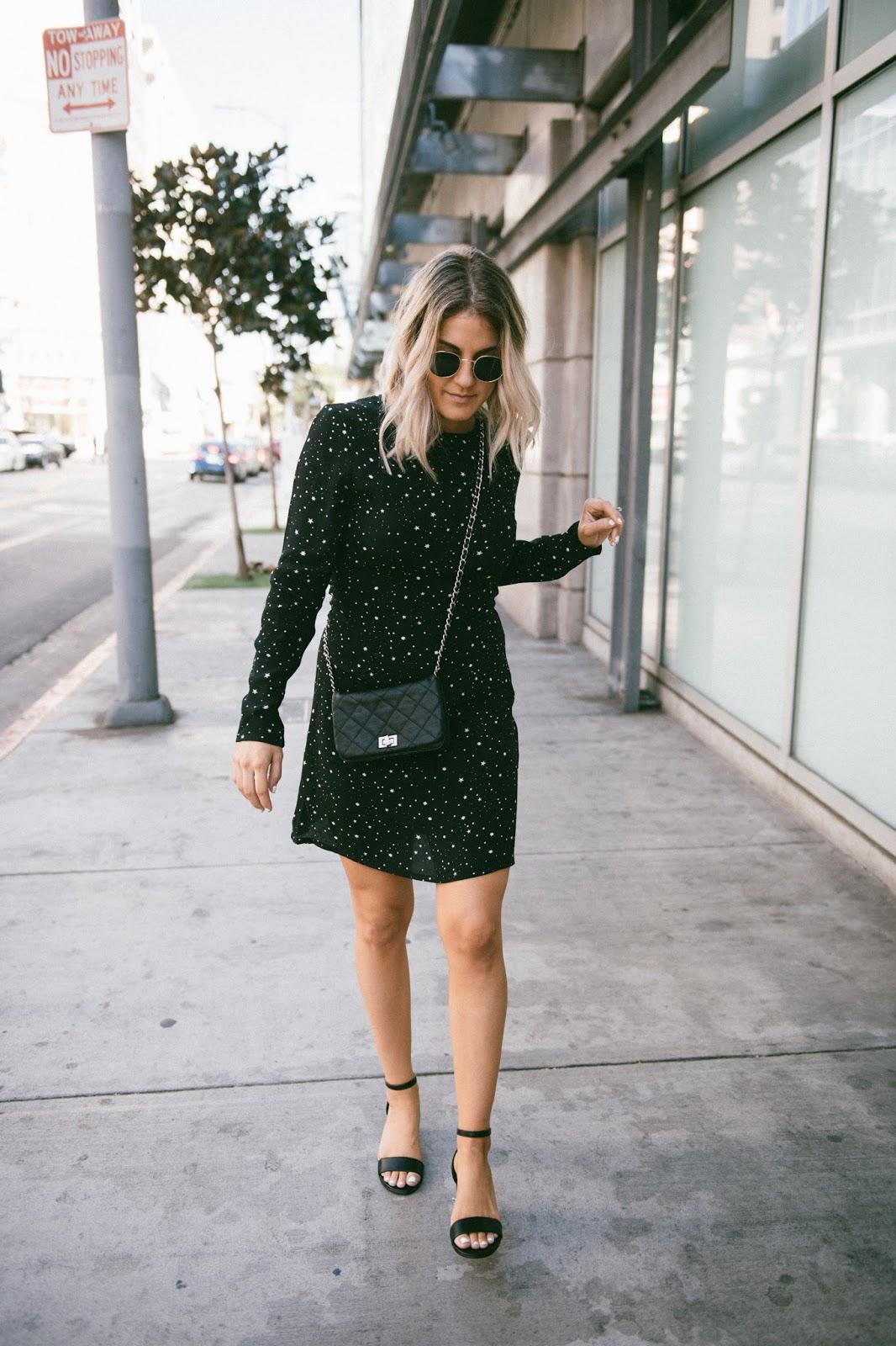 Black Star Print Dress from H&M - @taylorwinkelmeyer