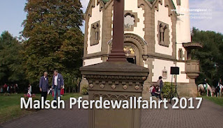 VIDEO Bericht: Malsch Pferdewallfahrt 2017, Letzenbergkapelle zählt die 55. Pferdesegnung in Malsch