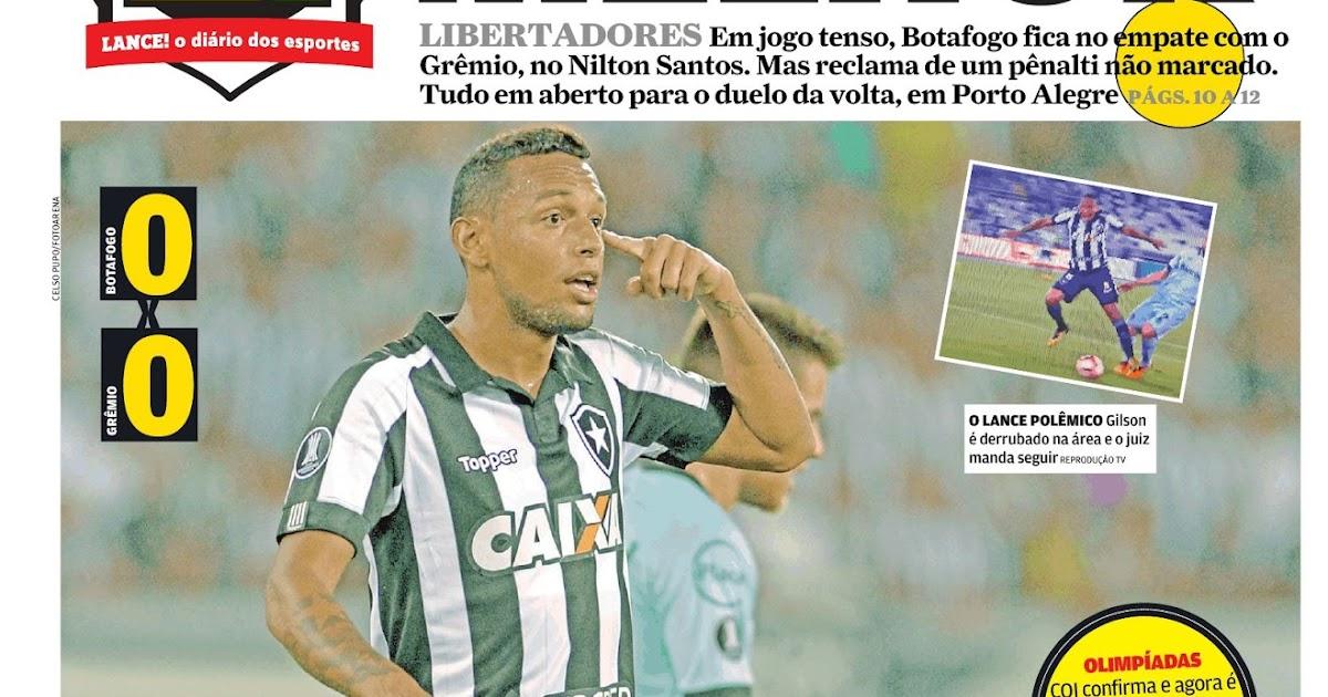 01b14efdecde2 Botafogo empata no Nilton Santos e decidirá vaga com Grêmio em Porto Alegre  - Sul-Americana  tudo igual também entre Chape e Flamengo