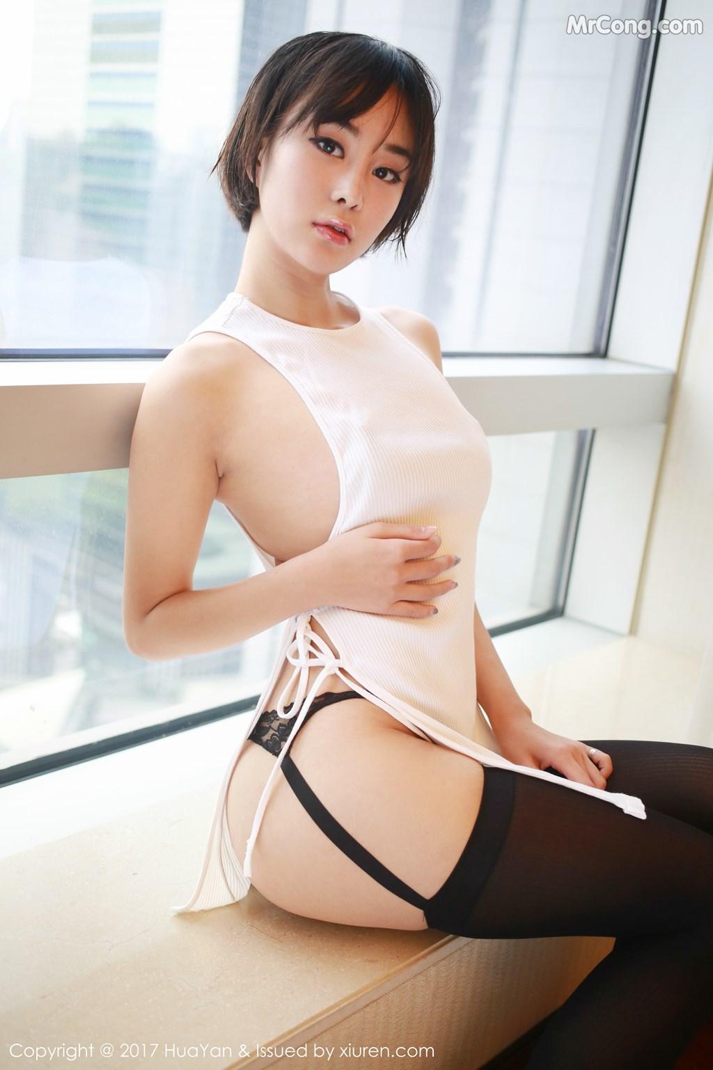 Image HuaYan-Vol.042-Yi-Lei-MrCong.com-007 in post HuaYan Vol.042: Người mẫu Yi Lei (艺蕾) (48 ảnh)