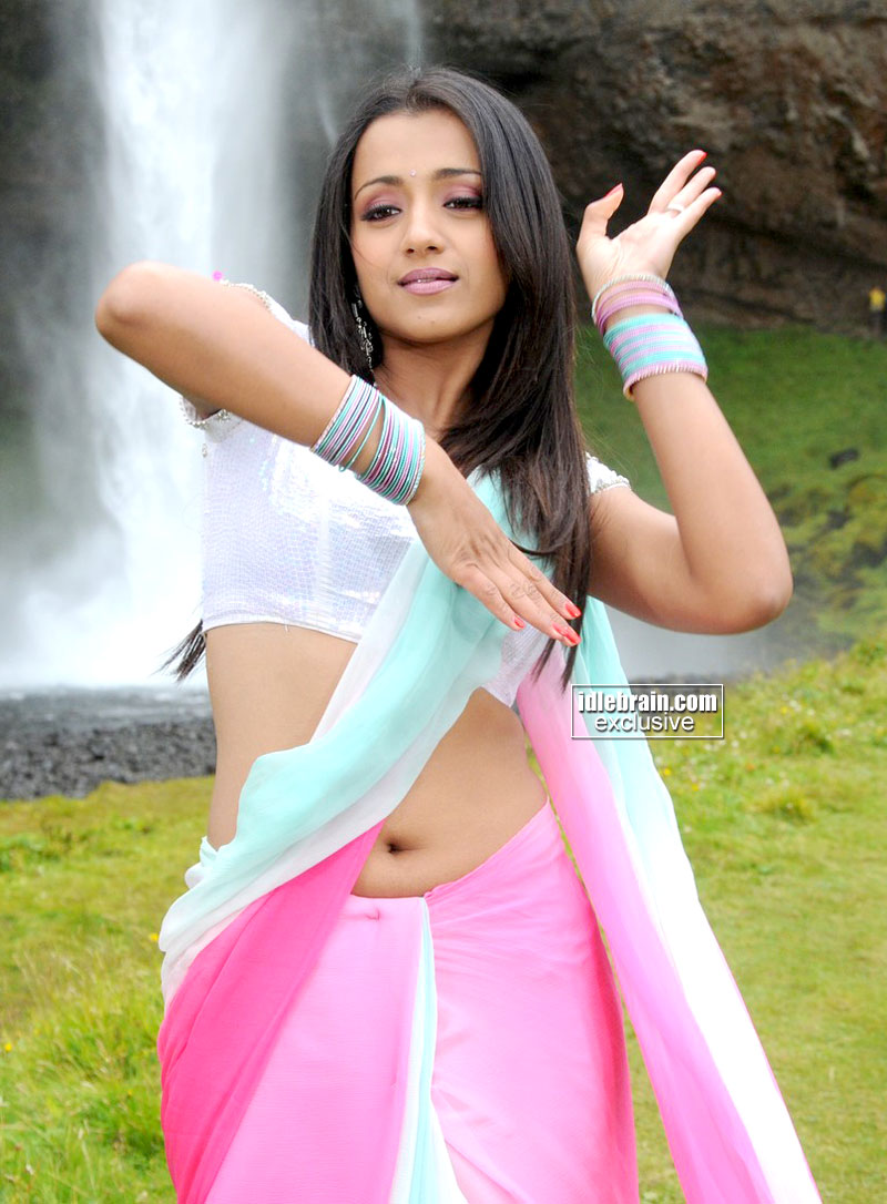 Kollywood Mirchi Trisha Krishnan Hot Deep Navel Show In -2141