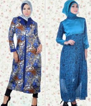 Desain Model Baju Batik Muslim Remaja Modern Terbaru 2018