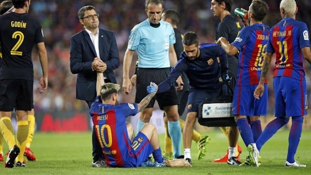 Messi Dipastikan Menepi selama 3 pekan Dari Lapangan