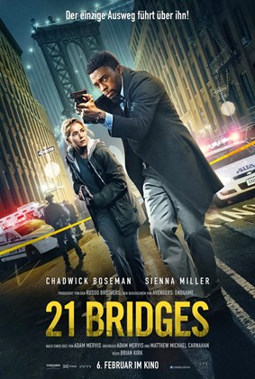 21 Bridges (2019) English 720p WEB-DL 900MB ESubs