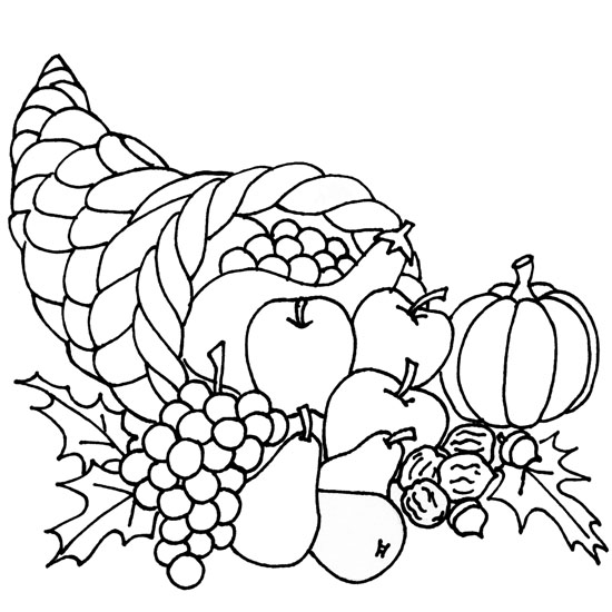 fruit baskets coloring pages | Coloring Pages for Kids: Fruit Basket Coloring Pages