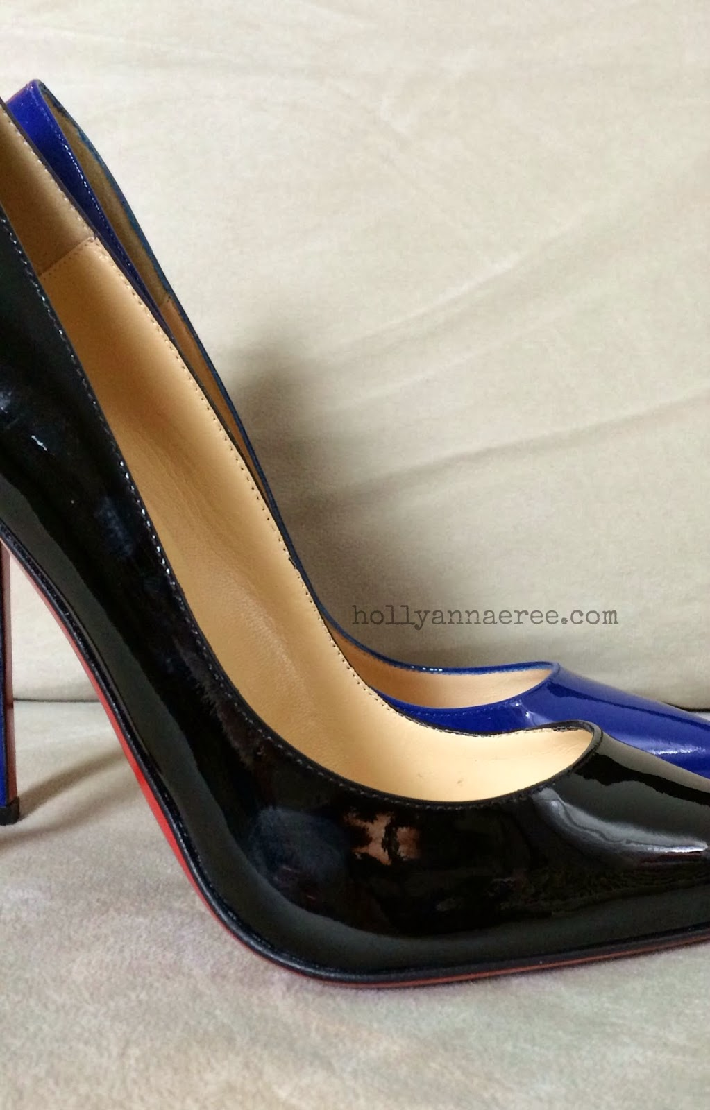 49e2a4982918 Both pairs were purchased from the Christian Louboutin website just at  different times. Personally from what I can see I like the old design a bit  better ...