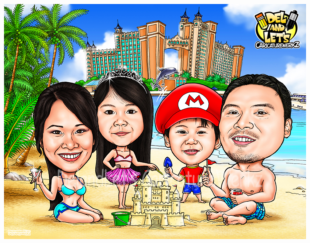 Caricatures by delandlets caricaturewerkz family caricatures voltagebd Images
