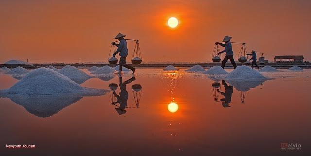 The salt fields near Van Phong Bay, Khanh Hoa province 16