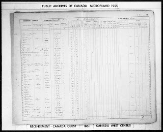 1861 Canadian Census Online at Library and Archives Canada