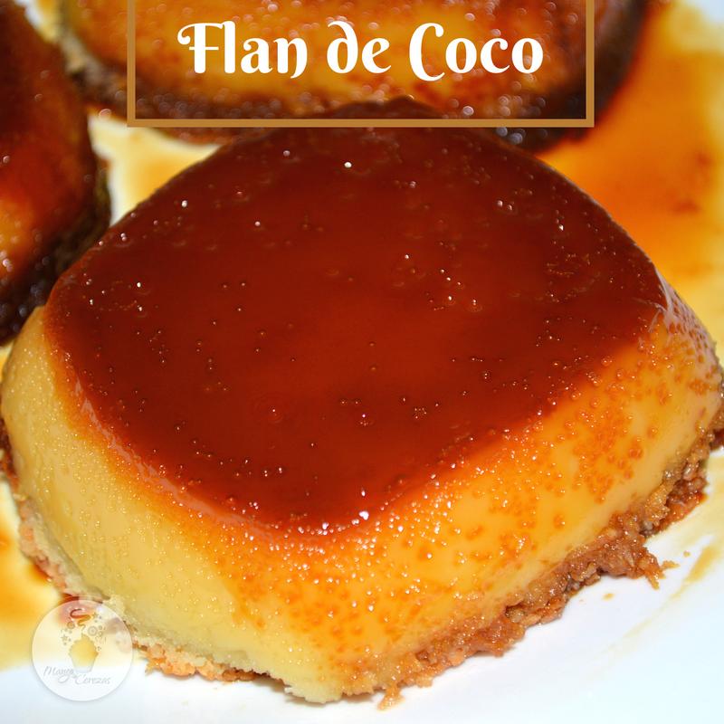 Flan de Coco, sin lactosa