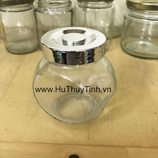 Lọ nắp bạc thủy tinh 100gram