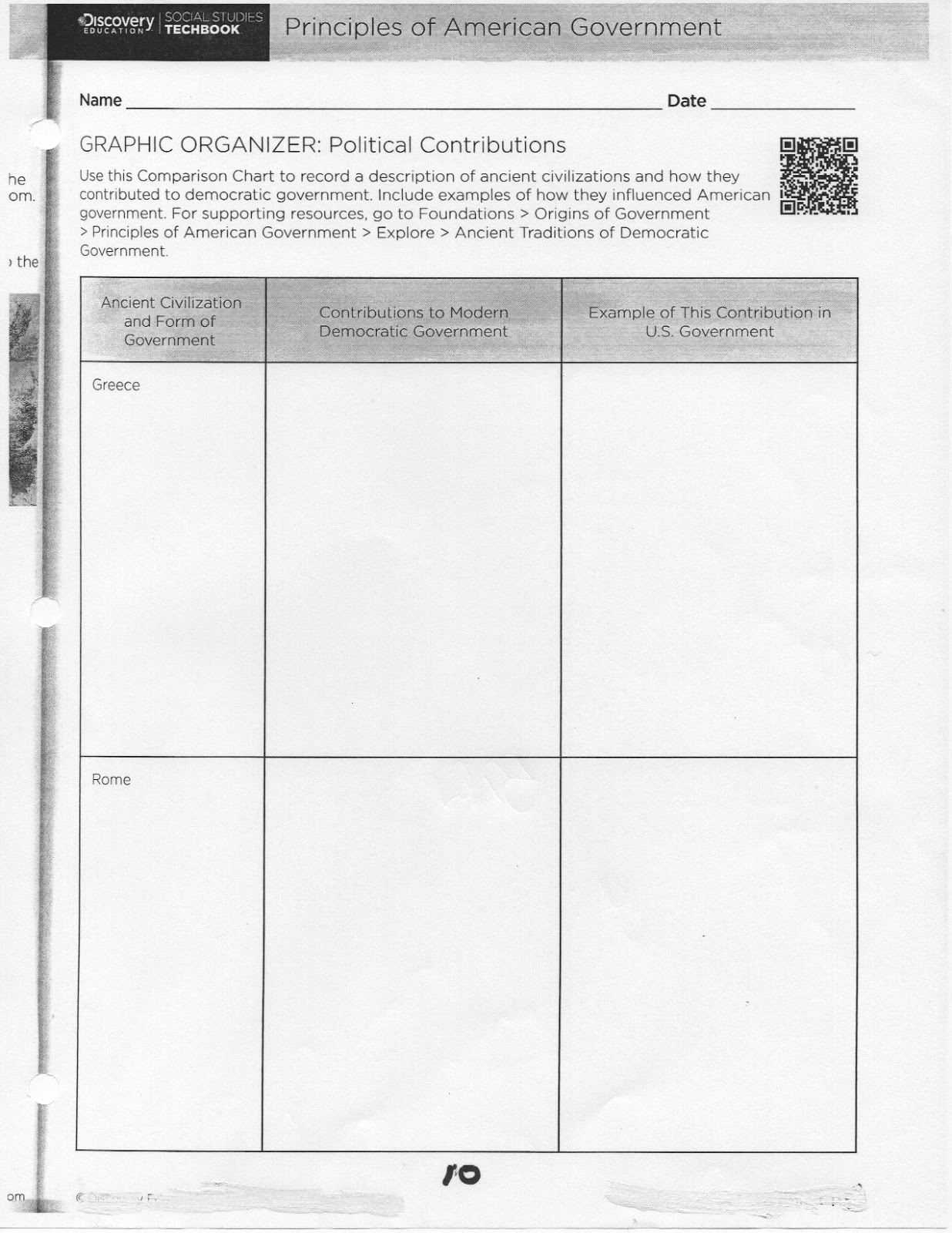 Coach Green S Class U2 Worksheets Origins Of Govt