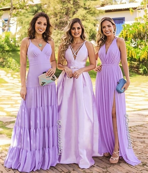 vestidos lavanda para madrinhas