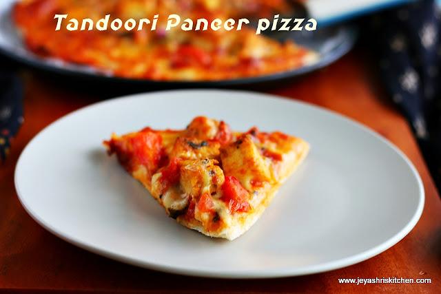 Tandoori - paneer pizza