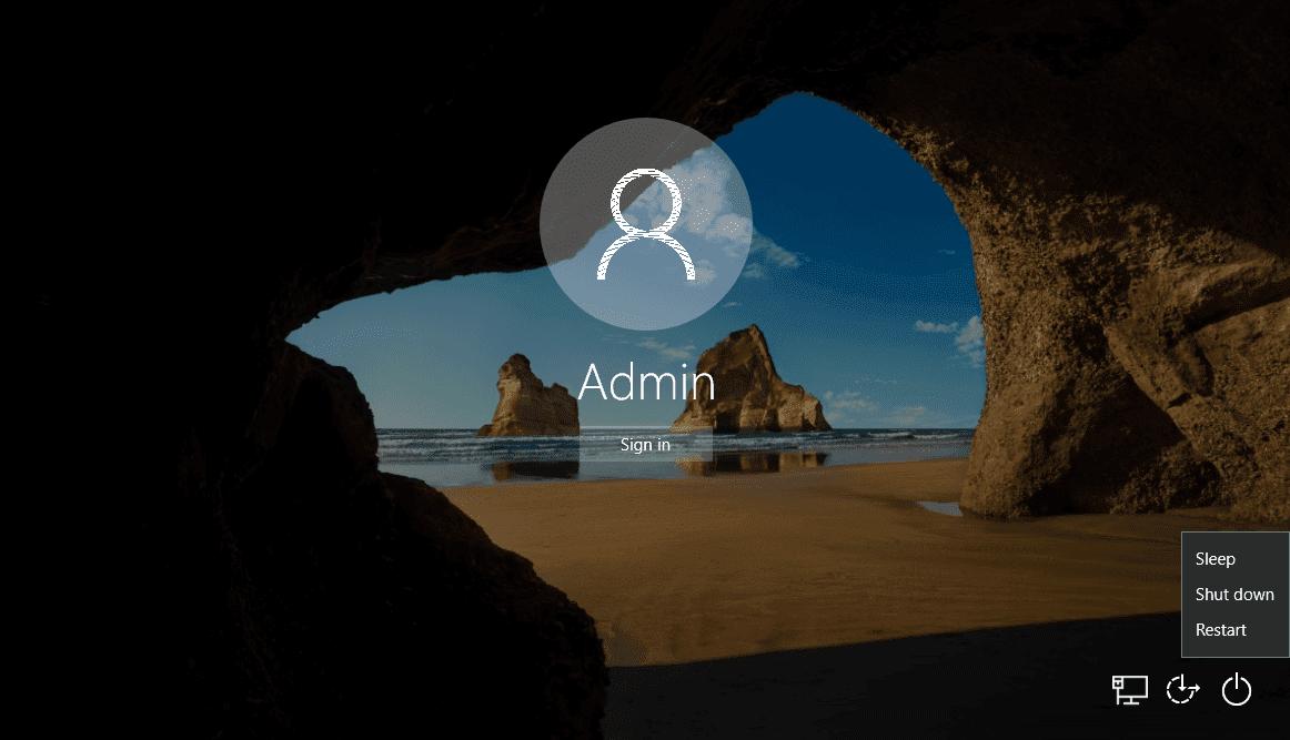 Vô hiệu hóa nút nguồn trong màn hình đăng nhập Windows 10