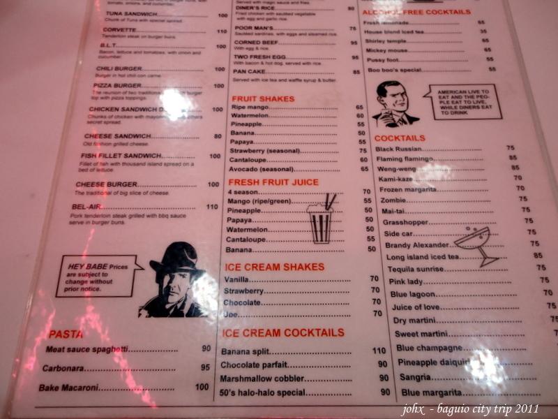 Explore Travel Learn BAGUIO CITY Glenn 50s Diner