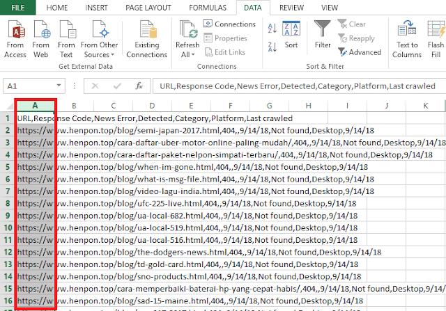 Pengaturan agar File CSV tidak Berantakan di Ms Excel