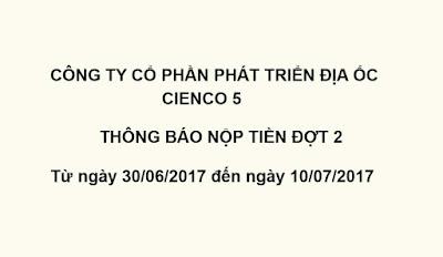 Thông báo nộp tiền đợt 2 Liền kề biệt thự Thanh Hà Mường Thanh