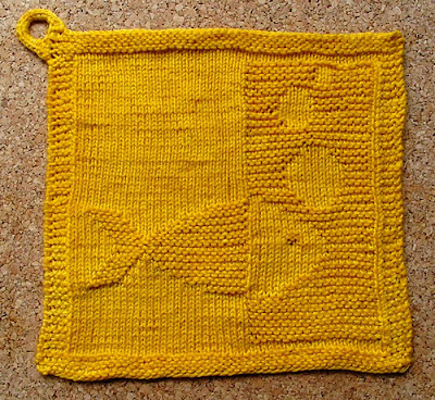 Blubb Dishcloth by Barbara 8, blogged by Dayana Knits