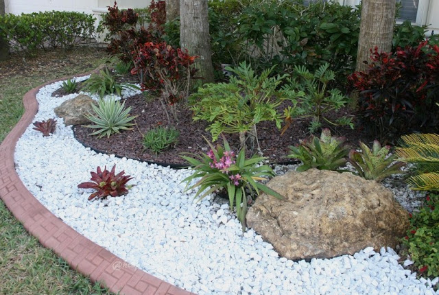 affordable garden paths  u0026 beautiful landscaping ideas with white pebbles