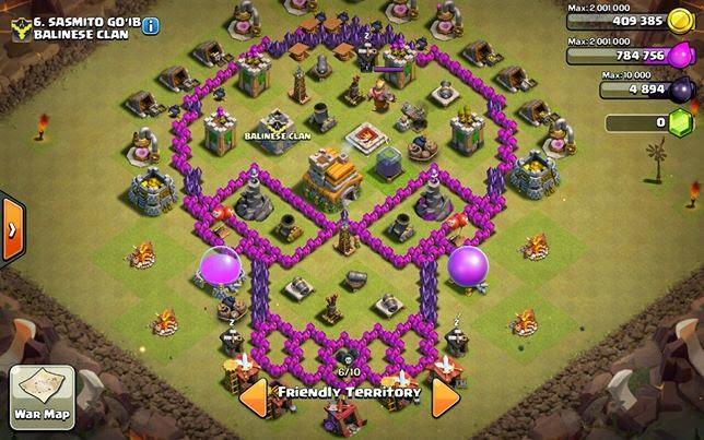 Base Coc Th 7 Bentuk Tengkorak 11