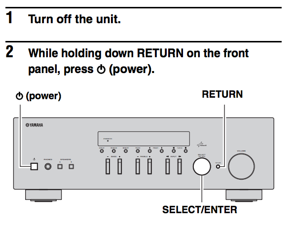 Yamaha RN-301 Networked Amplifier Airplay not working ~ Gareth's Blog