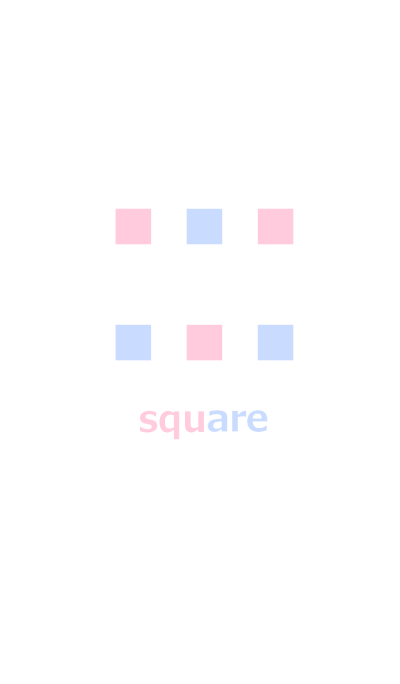 Pink square and light blue square