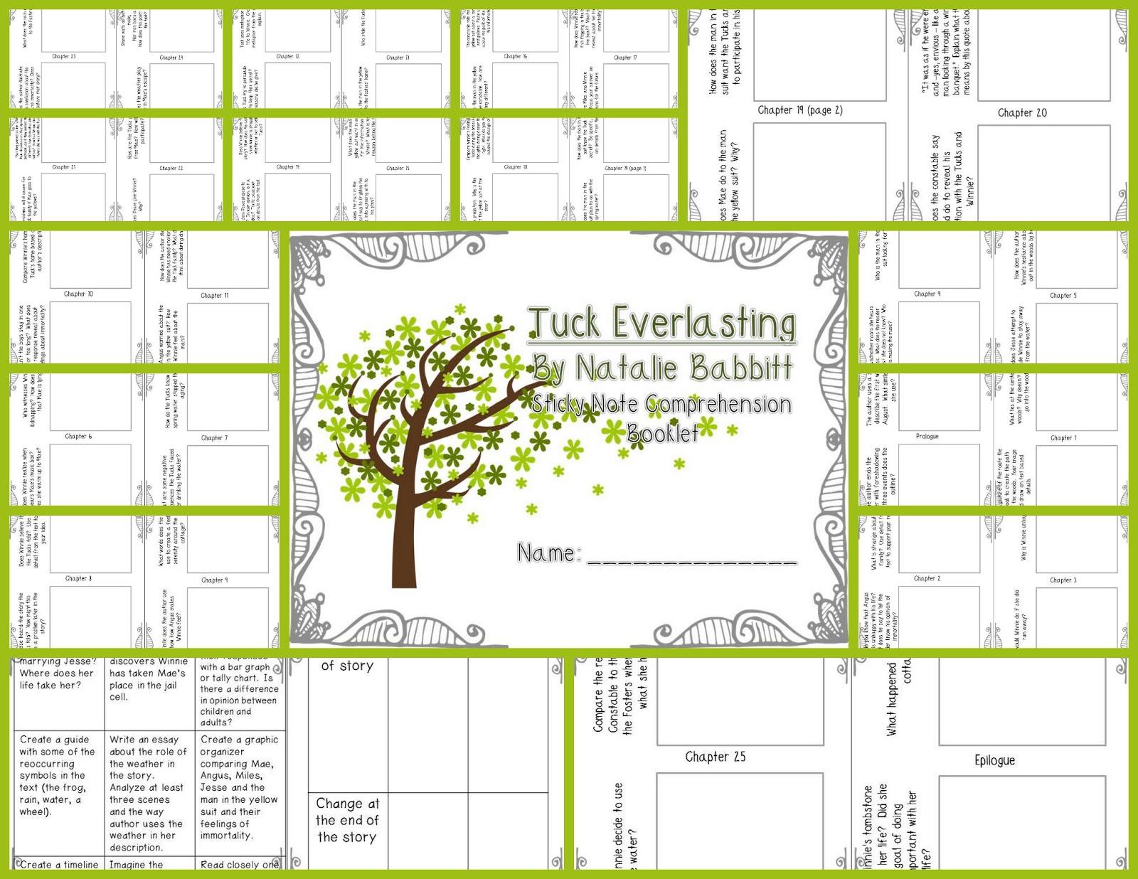 Printables Tuck Everlasting Worksheets Kigose Thousands Of Printable Activities