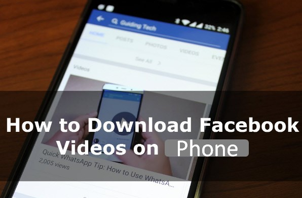 save facebook videos to phone