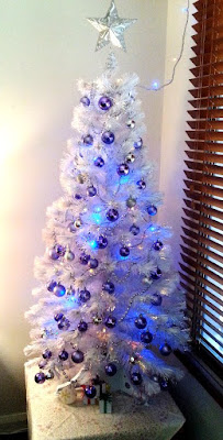 Christmas tree 2017 - purple, white and lights