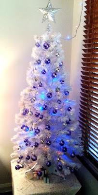 Christmas tree 2017 - purple, white and lights