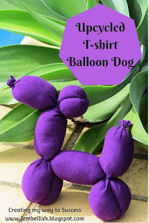 Upcycled T-Shirt Balloon Dog