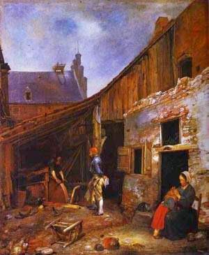 A Família Knifegrinders - Gerard Terborch ~ Pintor Barroco ~ Holandês