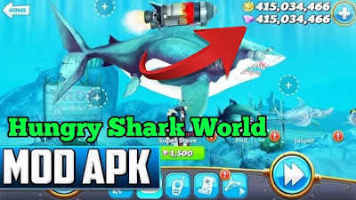 Hungry Shark World Mod Apk Unlimited Money