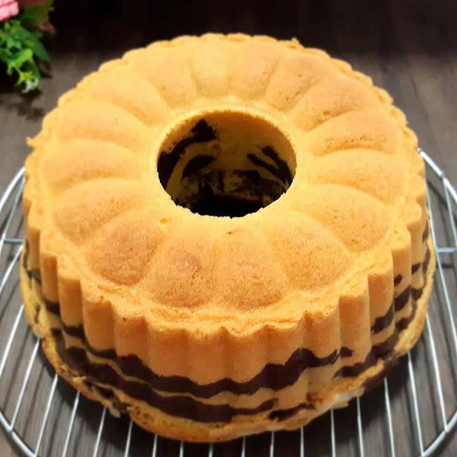 Cara membuat kue cake marmer