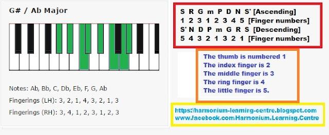 learn harmonium scale lessons