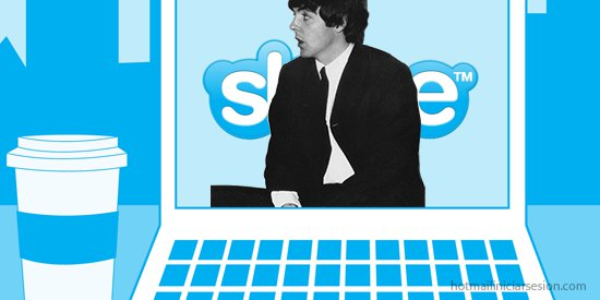 Skype por Paul McCartney en hotmail iniciar sesion