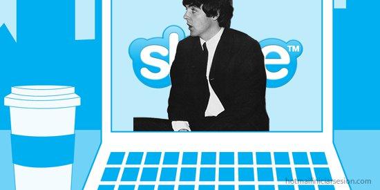 Skype por Paul McCartney en hotmail iniciar sesion