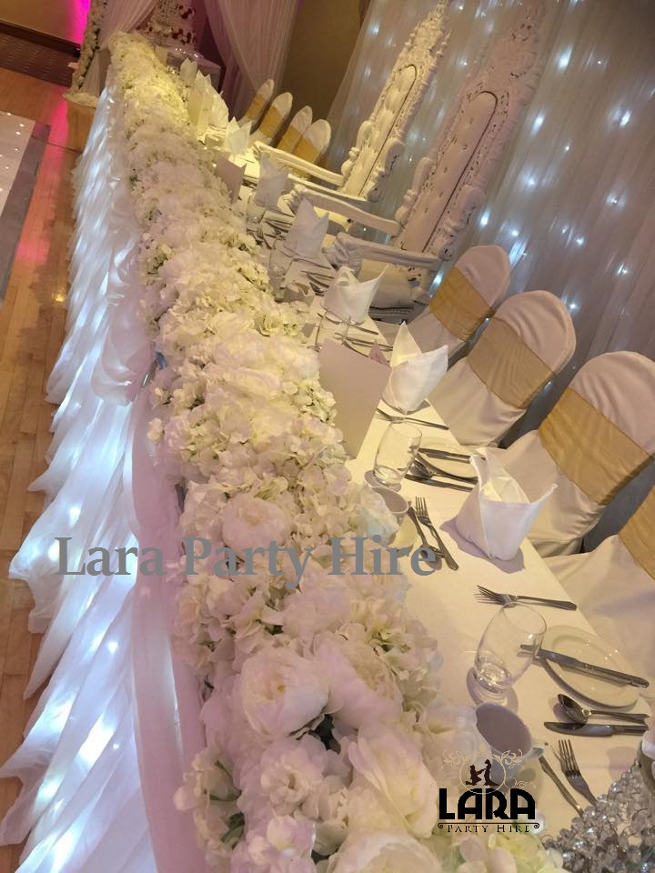 Head Table Floral Runner Hire