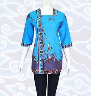 model baju batik muslim atasan wanita untuk pesta