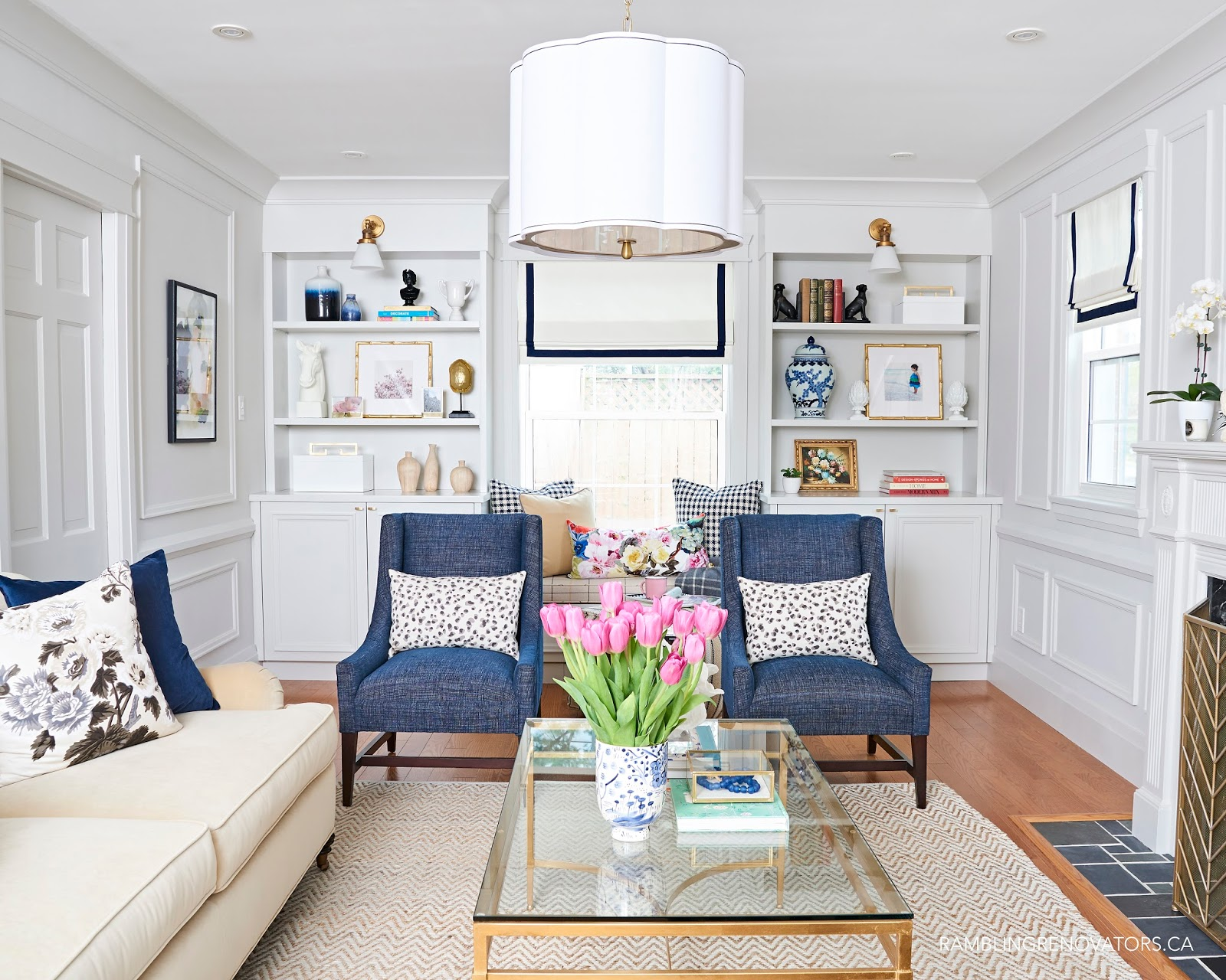 Traditional Living Rooms One Room Challenge Spring 2017 Week 6 Preppy