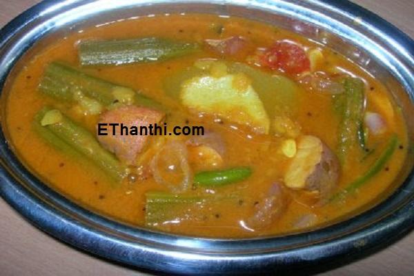 பலாகொட்டை சாம்பார் செய்முறை / Palakottai Sambar Recipe !