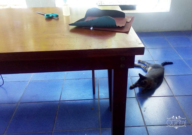 Mesa rústica da Paula Mello da Cozinha do Quintal =)