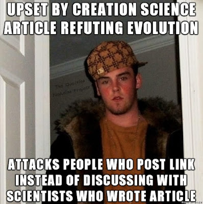 Atheists and other anti-creationists often attack the person that posted an article, expecting him or her to have insight into the mind of the author.
